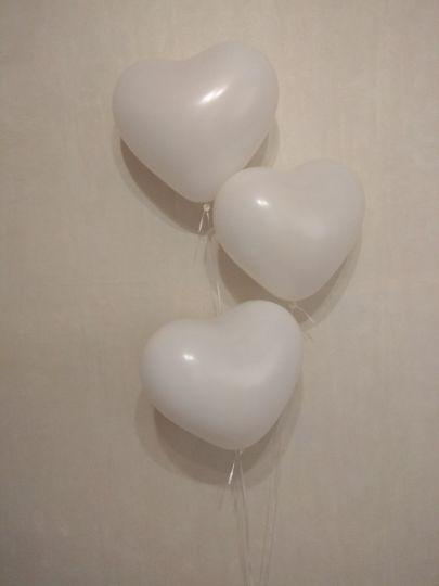 Шар-сердце белый латексные шары с гелием