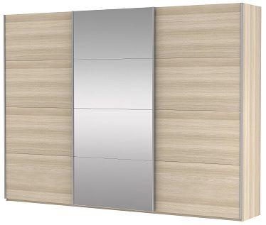 Шкаф-купе трехдверный (ДСП/Зеркало/ДСП) | E1 Прайм
