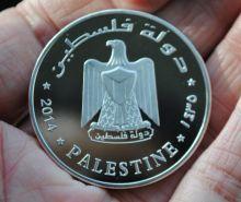 Медальон 10 Динар Иерусалим Палестина 2014