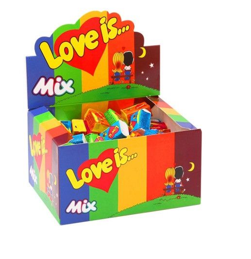 Жвачки Love Is 100 штук (Вкус: Микс)