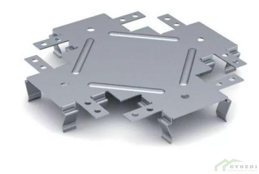 Соединитель для гипсокартона одноуровневый  КРАБ 60х27 (упаковка 50 шт)