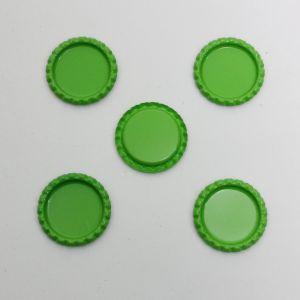 Крышка, металл, Д.вн. 25 мм, Д.наруж. 31 мм, цвет №А11 зеленый (1уп = 24шт)