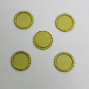`Крышка, металл, Д.вн. 25 мм, Д.наруж. 31 мм, цвет №А07 лимонный