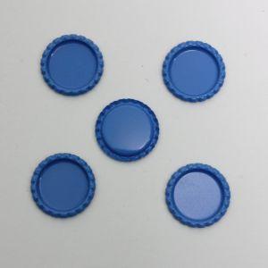 `Крышка, металл, Д.вн. 25 мм, Д.наруж. 31 мм, цвет №А09 голубой