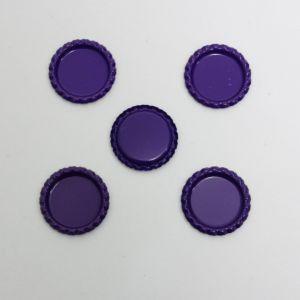 `Крышка, металл, Д.вн. 25 мм, Д.наруж. 31 мм, цвет №А13 фиолетовый