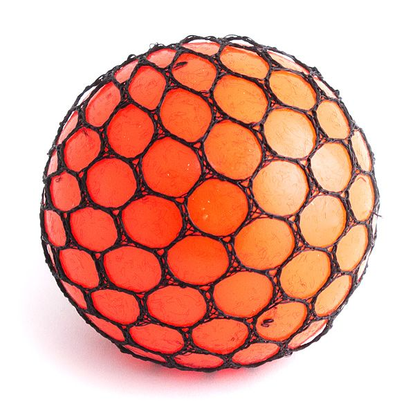 Игрушка-мялка Шарик большой оранжевый