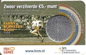 Фанни Бланкерс-Кун 5 евро Нидерланды 2018