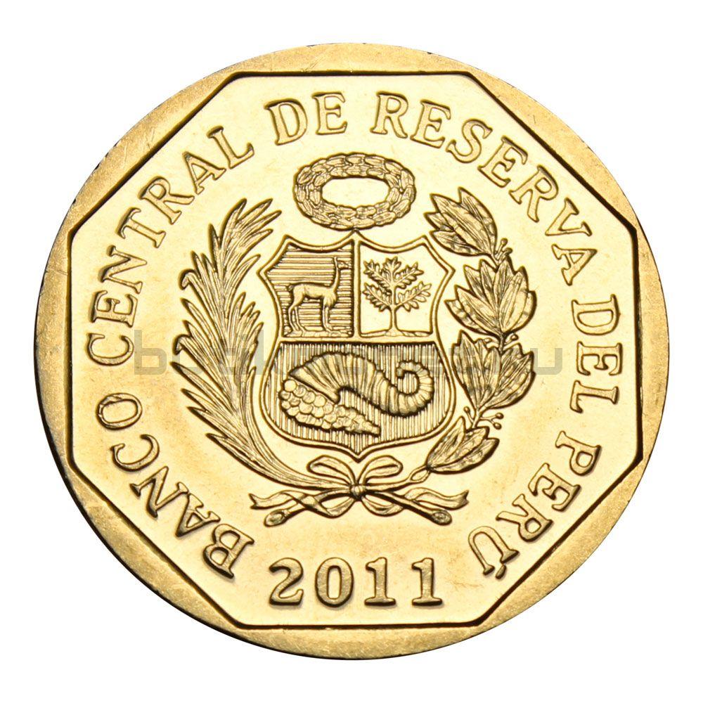 1 новый соль 2011 Перу Гран-Пахатен (Богатство и гордость Перу)