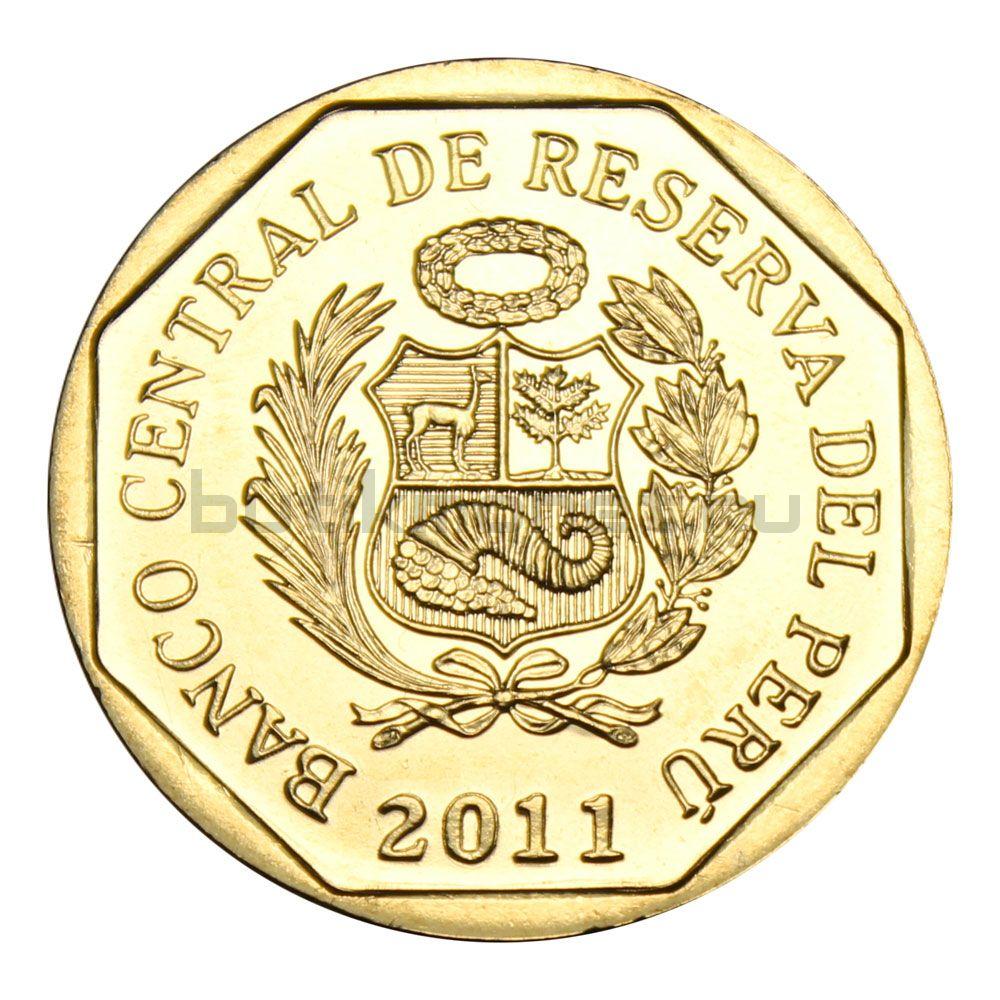 1 новый соль 2011 Перу Монастырь Санта-Каталина (Богатство и гордость Перу)