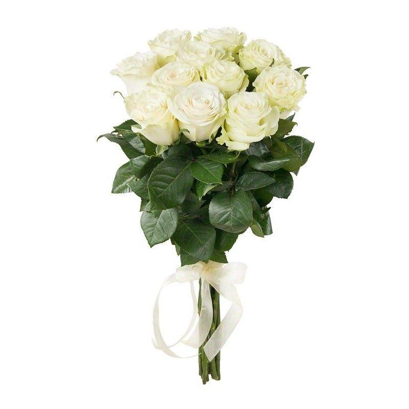 Букет из белых роз «Белая пена»