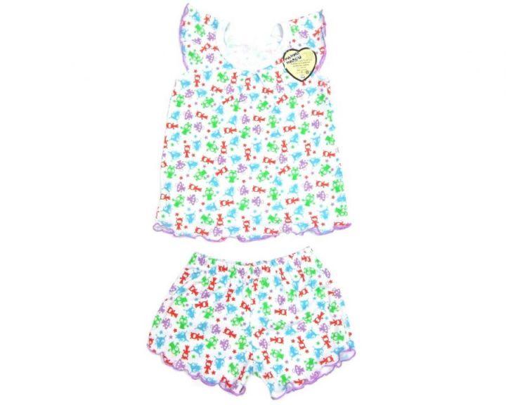 Пижама для девочек: футболка, шорты FC-PJ069-RB