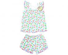 Пижама для девочек: футболка, шорты FC-PJ069-RB | МАМИН МАЛЫШ