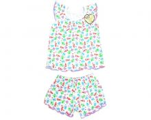 Пижама для девочек: футболка, шорты FC-PJ069-RB (рибана)