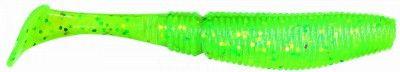 СИЛИКОНОВЫЕ ПРИМАНКИ SAKURA SLIT SHAD 85мм (уп. 10 шт.) цв. #043 Chartreuse WGreen & Chart