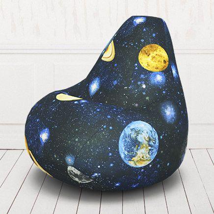Кресло мешок груша бескаркасное. Жаккард. Космос