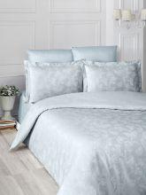 """Комплект постельного белья """"KARNA"""" Сатин-жаккард  ARIEL  евро (изумруд)  Арт.2993-1"""