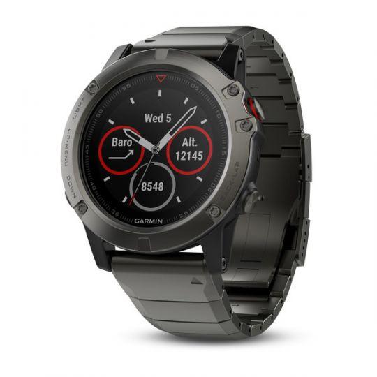 Часы Garmin Fenix 5X Sapphire c металлическим браслетом