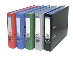Папка-регистратор 50мм БАНКО ПВХ серая метал окант карман/25 765450