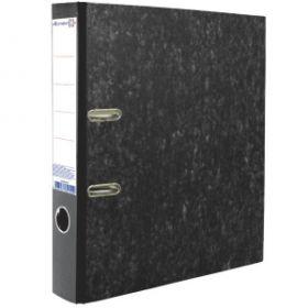 Папка-регистратор 75мм ATTOMEX мрамор черн метал окантовка этикетка/20 3090405