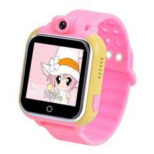 Умные детские часы с GPS Smart Baby Watch GW1000 (G75), Жёлто-розовые