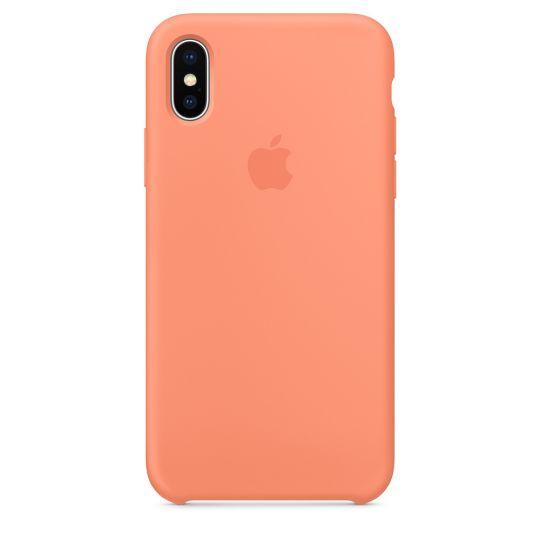 Silicone Case для iPhone X/Xs/XsMAX (сочный персик)