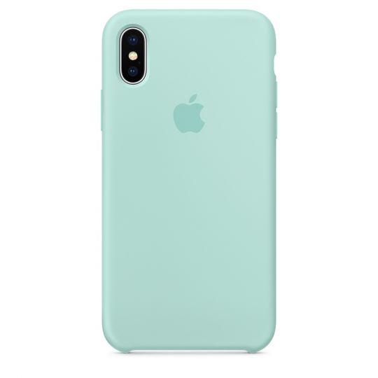 Silicone Case для iPhone X/Xs/XsMAX (зелёная лагуна)