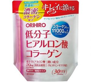 ORIHIRO Рыбный коллаген + Гиалуроновая кислота + Глюкозамин (питьевой)