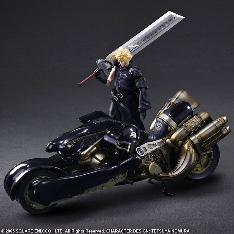 Фигурка Final Fantasy VII - Play Arts Kai Cloud Strife & Fenrir