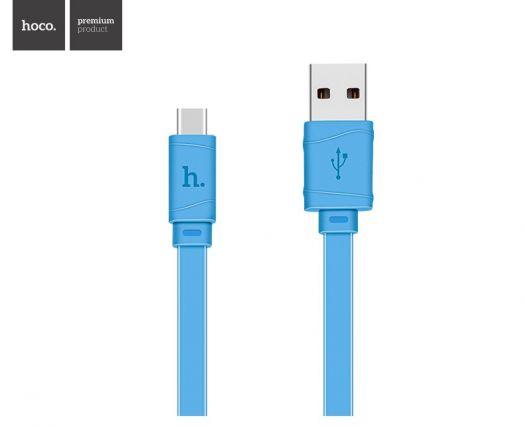 Кабель USB-Type-C Hoco X5 Bamboo, синий