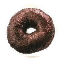 DEWAL Валик для прически, искусственный волос, коричневый d8 см, HO-5115 Brown