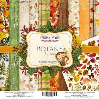 "Набор скрап бумаги ""Botany autumn"" 30,5*30,5 см FD"