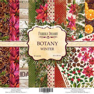 """Набор скрап бумаги """"Botanica winter"""" 20*20 см FD"""