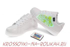 Светящиеся кроссовки UFO White-Stars U012-WS