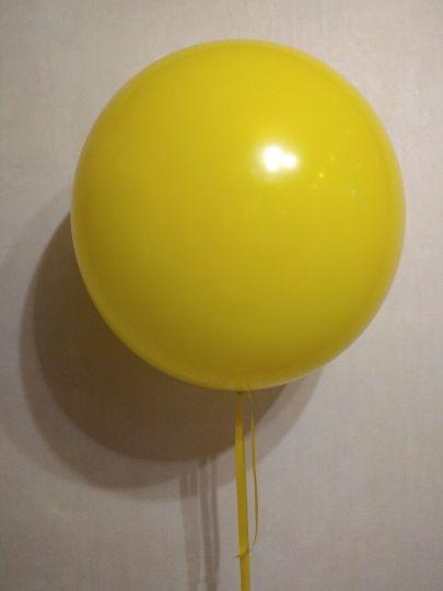Жёлтый метровый шар латексный с гелием