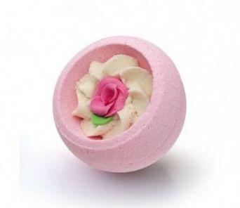 """Десерт-шарик для ванн комбинированный РОЗОВЫЙ САД, серия """"Праздничная"""", 130гр"""