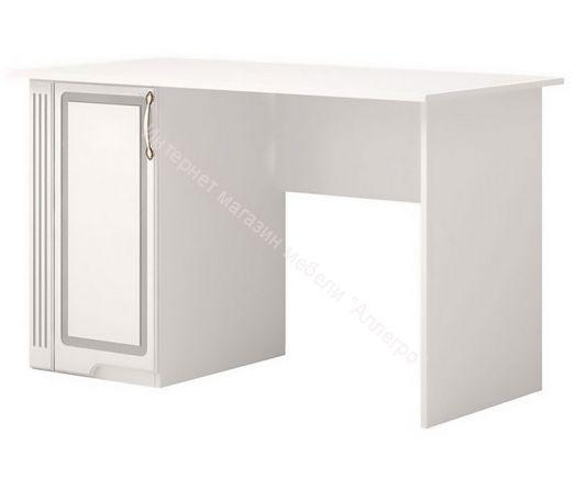 Письменный стол мод. 34  Виктория Белый глянец