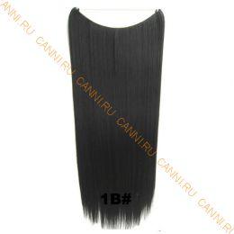 Искусственные термостойкие волосы на леске прямые №001В (60 см) - 100 гр.