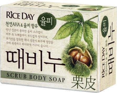 CJ Lion Скраб-мыло туалетное Rice Day, земляной орех, 100 гр
