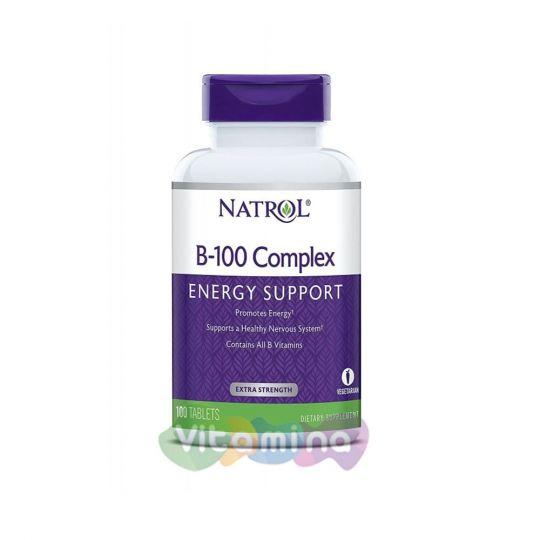 Natrol B-100 complex, 100 табл.