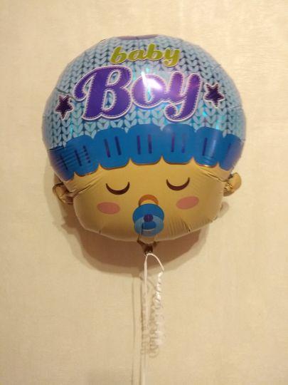 Голова малыша шар фольгированный с гелием