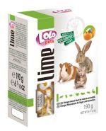 Lolo Pets Lime Минеральный камень XL для грызунов и кроликов с апельсином (190 г)