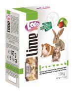 Lolo Pets Lime Минеральный камень XL для грызунов и кроликов с яблоком (190 г)