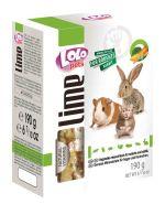 Lolo Pets Lime Минеральный камень XL для грызунов и кроликов с овощами (190 г)