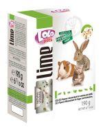 Lolo Pets Lime Минеральный камень XL для грызунов и кроликов с крекерами (190 г)