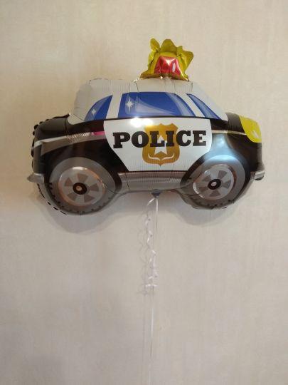 Полицейская машина фольгированный шар с гелием