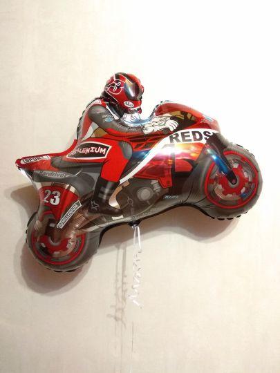 Мотоциклист (2 цвета) фольгированный шар с гелием