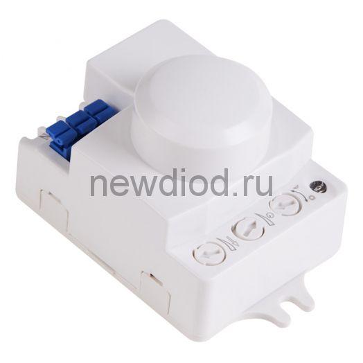 Датчик движения настенно-потолочный микроволновый ДДНПМ 01, 180°/360º,1200 Вт,3-2000Лк, стена 5-15 м,потолок 2-8 м,10-720 сек,5,8ГГц REXANT