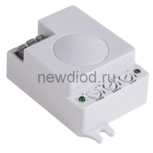 Датчик движения потолочный микроволновый ДДПМ 02, 360°,1200 Вт,3-2000Лк, 1-8 м,10-720 сек,5,8ГГц. REXANT