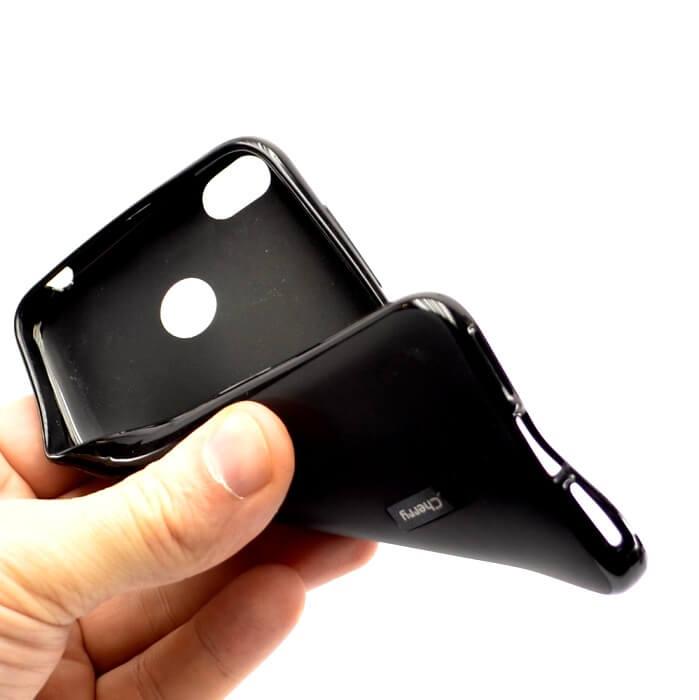 Силиконовый чехол для iPhone 4, 4S, черный матовый