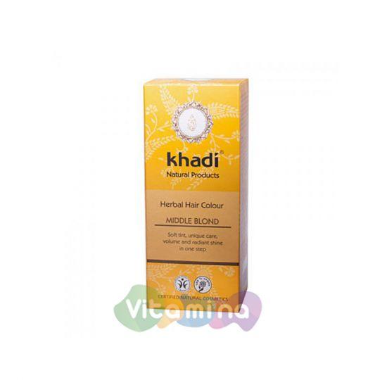 Khadi Растительная краска для волос «Средний блондин», 100 г